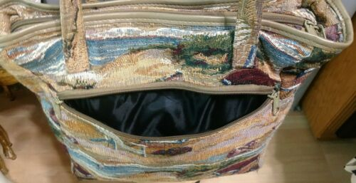 Jade Shoulder Tapestry Tote Compartments Large With Outside qSVMLpzGU