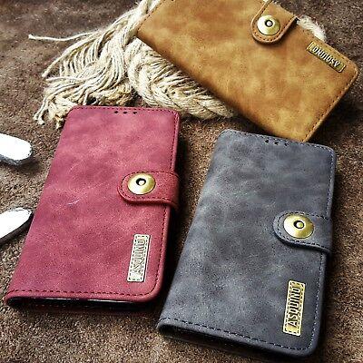 iPhone 5s Tasche Etui Flip Case Cover Leder Synthetisch Hülle Braun Schwarz Rot