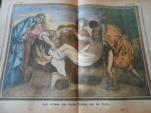 La-Remise-au-Tombeau-d-039-apres-Le-Titien-dessin-Print-1935