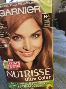 Image Is Loading Garnier Nutrisse Ultra Color B4 Carmel Chocolate