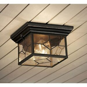outdoor flush mount ceiling light rustic cabin image is loading portfoliolitshire905inwoilrubbed portfolio litshire 905in oil rubbed bronze outdoor flushmount