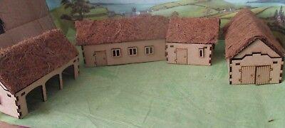 28mm Thatch Farm (4 Buildings) Scenery Medieval Fantasy Laser Cut MDF 3mm |  eBay