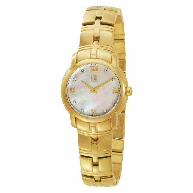 ESQ Movado Muse Gold-Tone Mother-of-Pearl Dial Womens Watch 7101348