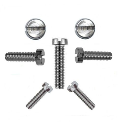 50 Stk Profi Qualität Zylinderschrauben mit Schlitz 6 mm DIN 84 M 6 x 40 V2A
