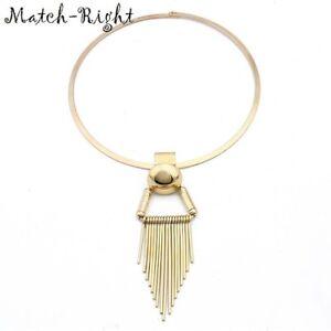 Necklace-Statement-Tassel-Pendant-Women-Chain-Choker-Jewelry-Crystal-Chunky-Bib