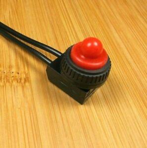 2 Red BBT Brand Marine Grade 12 Volt On//Off Push Button Switches