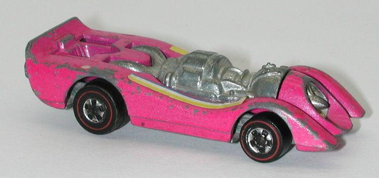 Redline Hotwheels Pink Enamel 1973 Jet Threat oc13100