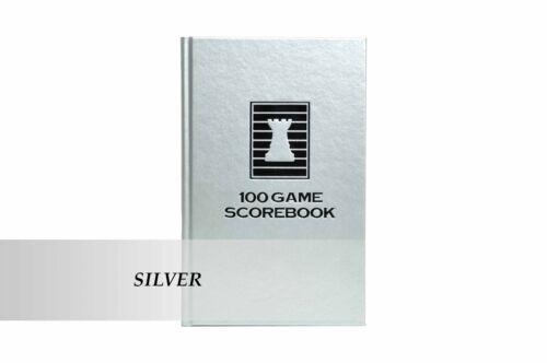 SILVER Luxury Hardcover Chess Scorebook