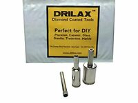 Drilax™ 3 Pcs Diamond Drill Bit Set 1/4 , 1/2 , 3/4 For Tiles, Glass, Fish on sale