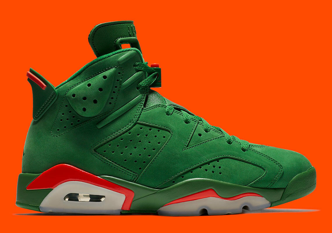 Nike AIR JORDAN 6 VI RETRO  AJ5986-335 Pine Green Gatorade x SZ  12 New W Rec.