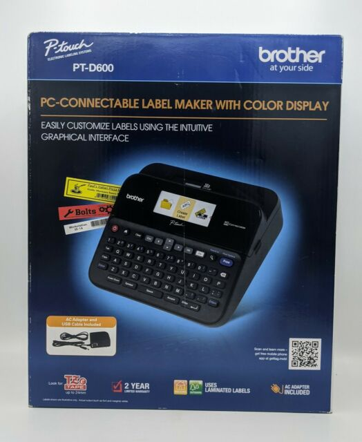 Brother PT-D600 P-Touch PC-Connectable USB Label Maker with Color Display PTD600