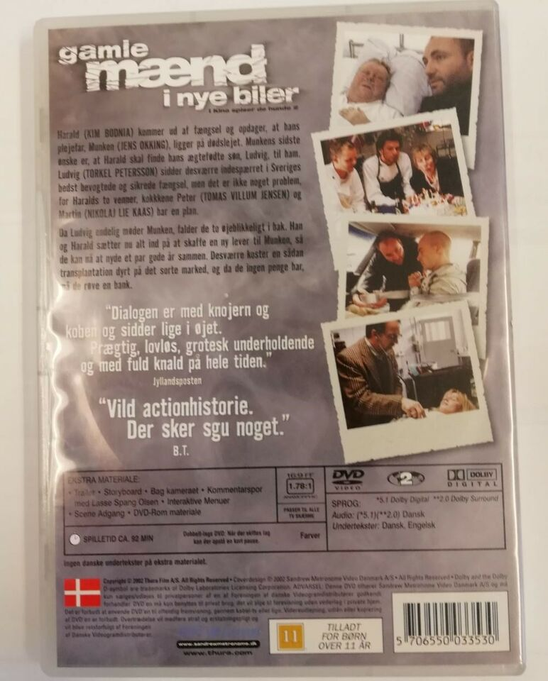 Gamle Mænd i Nye Biler, DVD, komedie