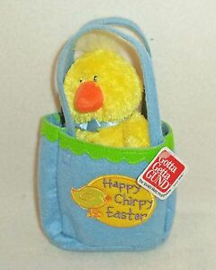 "Sunshine Pals ""Happy Chirpy Easter"" Chick in a Gift Bag from Gund (36149) NEW!"