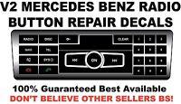 V2 2012 -2014 Mercedes Cla Cls Ml Series Radio Button Decals Worn Peeling Button