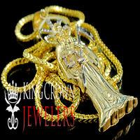 10k Gold Santisima Muerte Death Ripper Angel Of Death Mini Pendant Free Chain