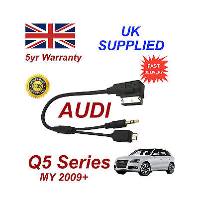 Audi Q5 Series Cable For Htc One M8 E8 Desire Mini Micro Usb & Aux 3.5mm Cable