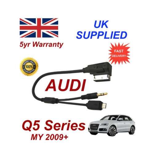 AUDI Q5 Series cable For HTC One M8 E8 Desire Mini Micro USB /& AUX 3.5mm Cable