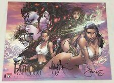 MICHAEL TURNER Fathom Witchblade Tomb Raider Print Tour Edition Signed COA RARE