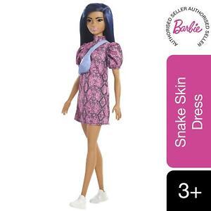 Barbie Fashionistas Doll Snakeskin Dress Toy For Kids