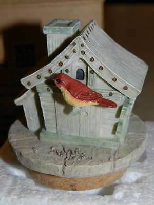 Home Interiors Birdhouse Candle Topper #92009 New in Box