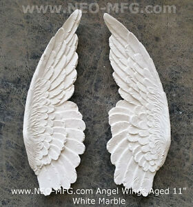 angel wings aged wall sculpture statue plaque 11 set pair home