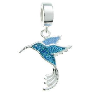 Sterling-Silver-Hummingbird-Bird-Blue-Enamel-Dangle-for-European-Charm-Bracelets