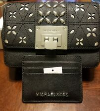 23a855e84ab7 item 8 NWT Michael Kors TINA Leather Stud Small Clutch Crossbody Bag in  BLACK NWT -NWT Michael Kors TINA Leather Stud Small Clutch Crossbody Bag in  BLACK ...