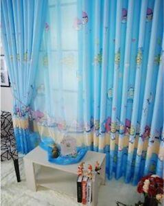 Luxury-Disney-ANGRY-BIRDS-Net-Curtain-Slot-Top-Set-75CM-X-260CM