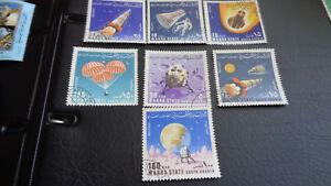 Stamps Aden 7x Briefmarken Unbenutzt Entlastung Von Hitze Und Sonnenstich Apollo Space Mahra State Gest.