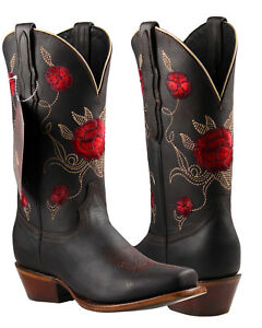 6d1b9456e90 Details about Women's Cowgirl Rodeo Boots El General Color Choco