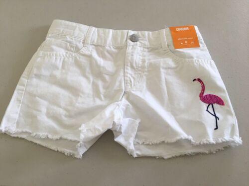 NWT Gymboree Girls Shorts Summer Flamingo White  Adj Waist 4,6,8,10,14