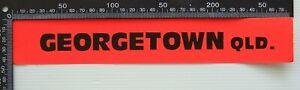 VINTAGE GEORGETOWN QUEENSLAND AUSTRALIA ADVERTISING PROMO BUMPER STICKER DECAL
