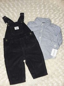 Toddler Boys/' 2pc Fall Winter Flannel //Terry Top// Pant Set NWT Carter/'s Baby