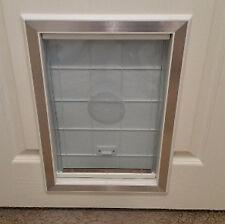 Dog Door Extra Large Cat Pet Flap Door Magnetic Closure Aluminum Frame