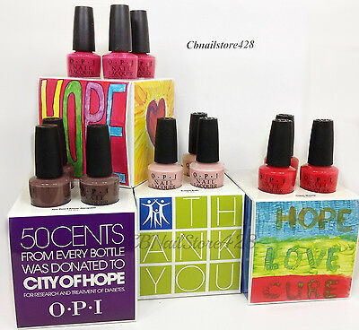 Nail Lacquer- CITY OF HOPE S86, L64, M23, F15 .5oz/15ml - Pick Any opi Color
