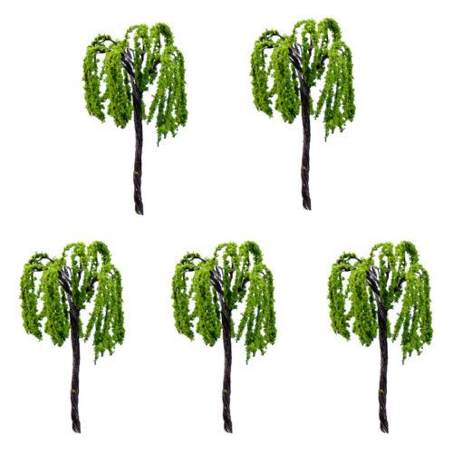 5pcs Mini Resin Tree Dollhouse Bonsai Fairy Garden Landscape Decors #6