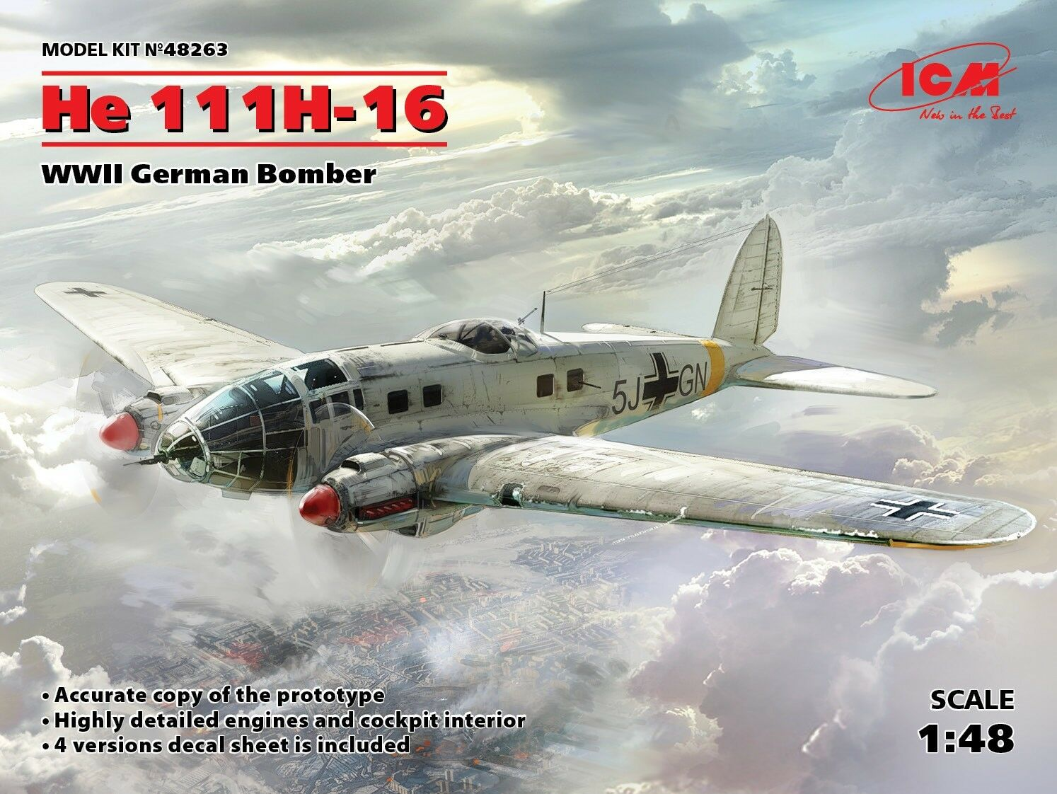 He 111H-1//2 armament set for Revell kit # 2186 Aires 1//32 Heinkel He 111P-1//2