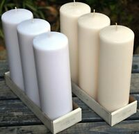 3 X 9 Pillar Candles: Case Of 24 (white Or Ivory)
