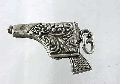 Sterling Opening CHIM Gangsters Violin Case Charm Opens To A Machine Gun Inside Sterling Silver Charm for Bracelet from Charmhuntress 05154