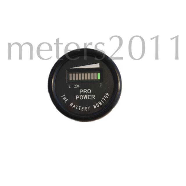 12 Volt VDC Battery Indicator, GolfCart,Boat,Forklift-PRO12-48M ™