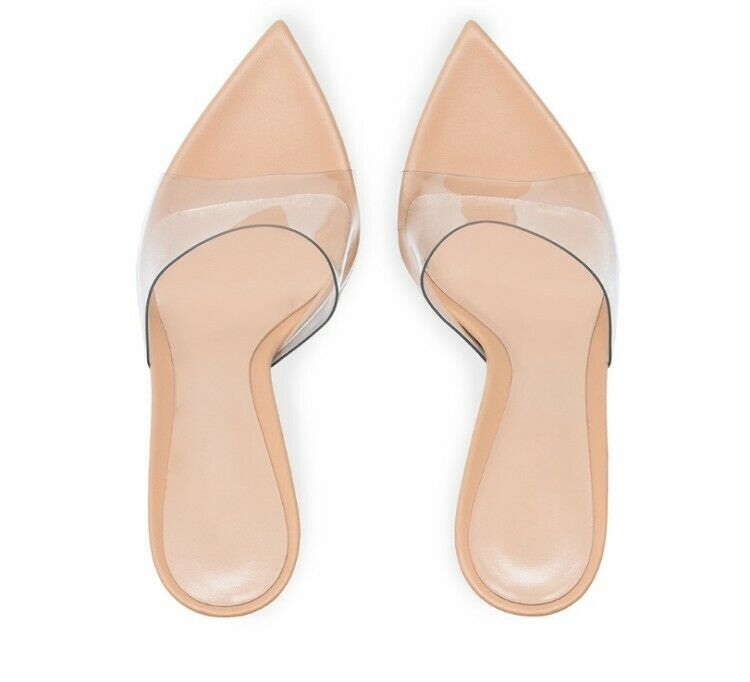donna High Heels Summer Stilettos Clear Slippers Party Club Slippers scarpe Dimensione