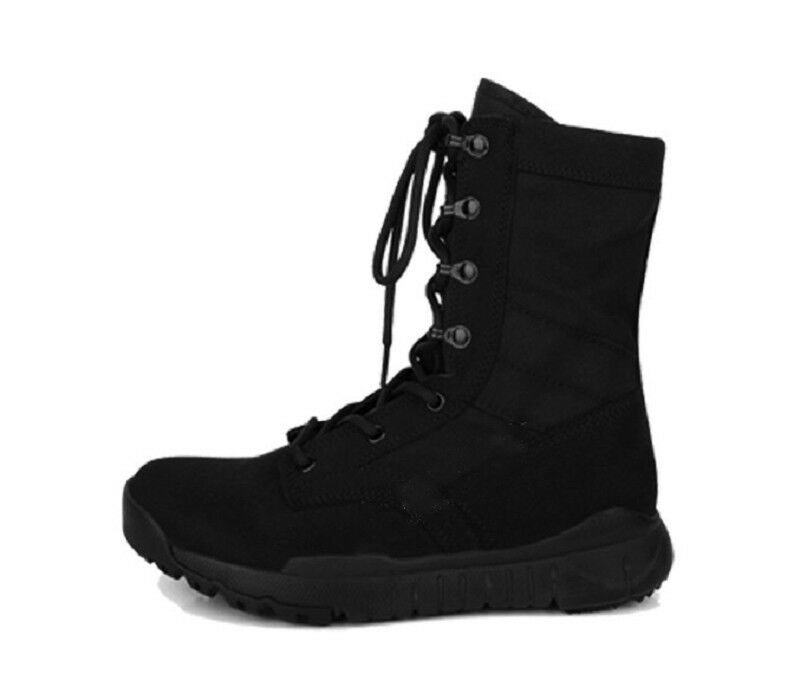 New Fashion Leather Mens Combat Military High Top Boots shoes Black Lace Up NEW