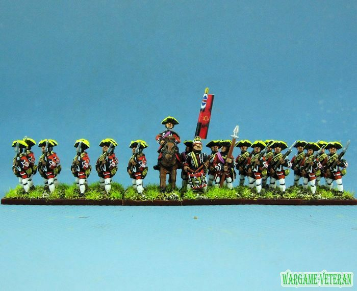 15mm SYW Seven Years War WGS painted British Musketeer Btln Ba4