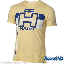 HARO BMX Retro T-SHIRT Yellow w/ blue logo ADULT 2X-LARGE old-school vintage 2XL