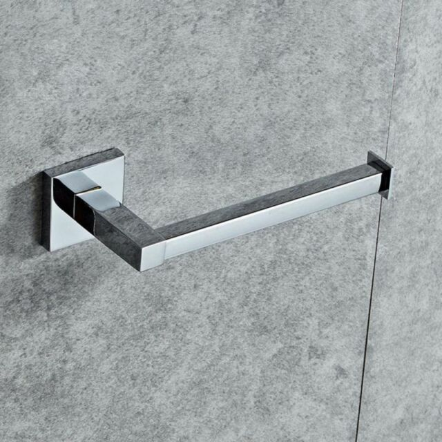 Modern Bathroom Toilet Roll Paper Holder In Chrome Wall Mounted