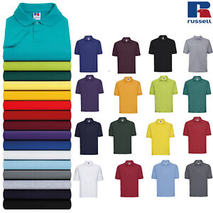 Russell-Mens-Classic-Polycotton-Polo-Tee-R-539M-0-Collared-Short-Sleeve-T-Shirt