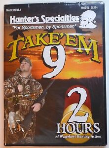 HUNTER-039-S-SPECIALTIES-TAKE-039-EM-9-DUCK-HUNTING-DVD-2-HOURS-WATERFOWL-NEW