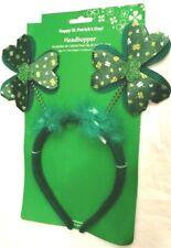 Headband Felt with Spinning Shamrocks Green White St Patrick Day Accessory NIP