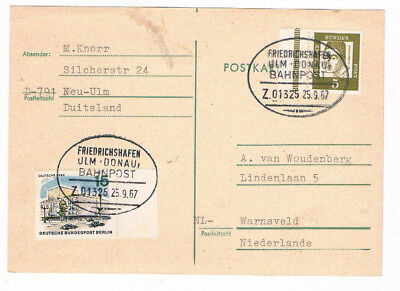 Ulm Bahnpost 1967 Ideales Geschenk FüR Alle Gelegenheiten donau Friedrichshafen
