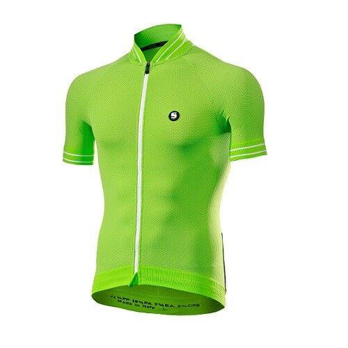 T-shirt Jersey T-shirt Bike Bike Cycling SIXS GREEN WHITE CLIMA JERSEY